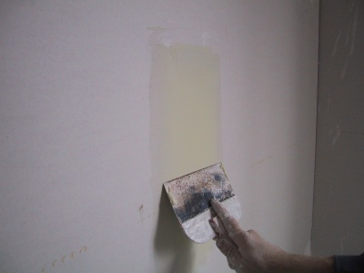 a straight plaster wall